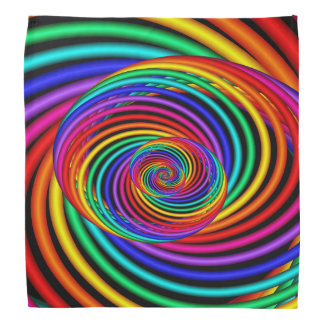3D Spiral Rainbow Bandana