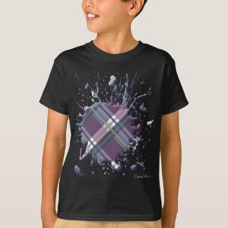 3D Splatter in Plaids, Checks and Tartans T-Shirt