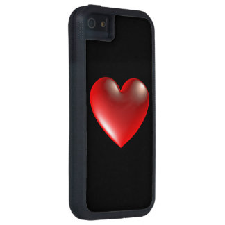 3D Style Heart Symbol Red iPhone 5 Case