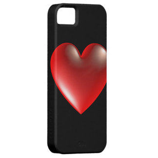 3D Style Heart Symbol Red iPhone 5 Cover