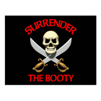 3D Surrender the Booty Post Cards