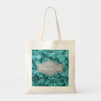 3D Teal Hydrangea Monogram Mother of the Bride Bag