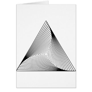 3d Triangle Optical Illusion Card