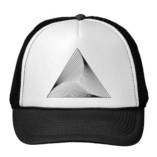 3d Triangle Optical Illusion Hat