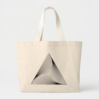 3d Triangle Optical Illusion Jumbo Tote Bag