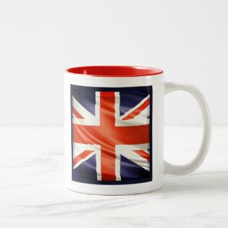 3D UK flag Two-Tone Mug