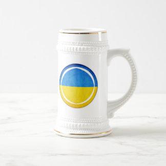 3D Ukraine flag Beer Steins