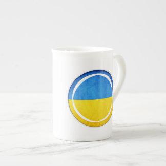 3D Ukraine flag Bone China Mug