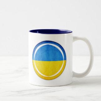 3D Ukraine flag Two-Tone Mug