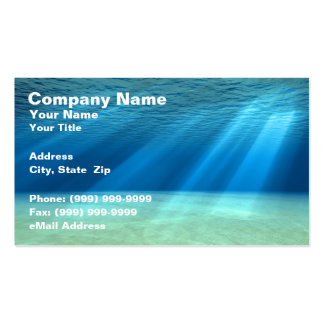 3D Underwater Ocean Scene Double-Sided Standard Business Cards (Pack Of 100)