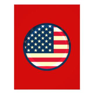 3D USA flag 21.5 Cm X 28 Cm Flyer