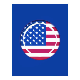 3D USA flag 21.5 Cm X 28 Cm Flyer