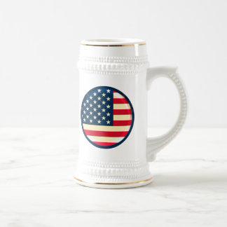 3D USA flag Beer Steins