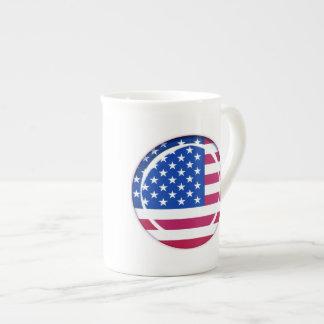 3D USA flag Porcelain Mug