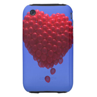 3d Valentines Balloons Heart iPhone 3 Tough Cases