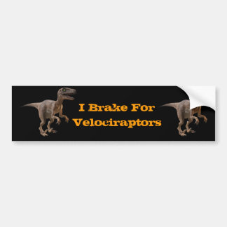 3d Velociraptor Bumper Sticker