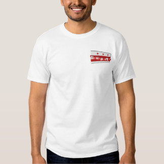 3D Wasington DC Flag T Shirt