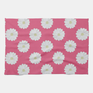 3D White Daisy Kitchen Towel