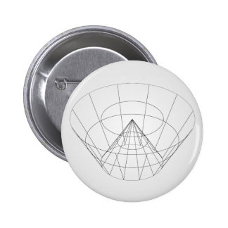 3d wireframe render object 6 cm round badge
