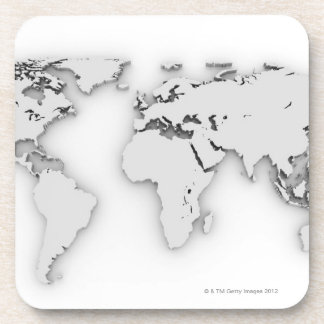 3D World map, computer generated image Coaster