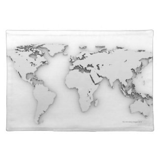 3D World map, computer generated image Placemat