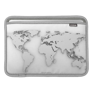 3D World map, computer generated image Sleeve For MacBook Air