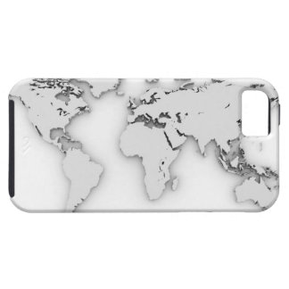 3D World map, computer generated image Tough iPhone 5 Case