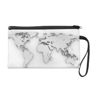 3D World map, computer generated image Wristlet