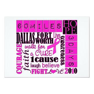 3day walk - Dallas Fort Worth 13 Cm X 18 Cm Invitation Card