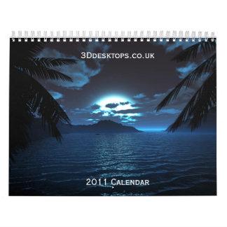 3Ddesktops.co.uk  2011 Calendar