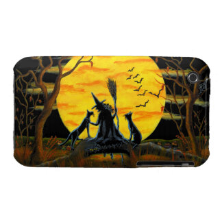 3G/3GS, phone case,Halloween,witch,bats,black,cats iPhone 3 Case-Mate Case