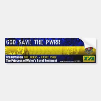 3PWRR God Save The PWRR Bumper Sticker