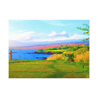 3rd Across The Bay At Mauna Kea on Canvas Canvas Print