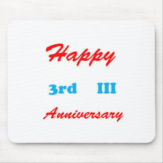 3rd ANNIVERSARY happy RETURN GIFTS keychains III Mouse Pad