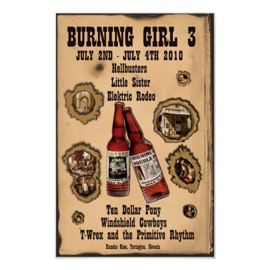 3rd Annual Burning Girl 2010 Poster