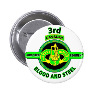 "3RD ARMORED CAVALRY REGIMENT""BRAVE RIFLES"" 6 CM ROUND BADGE"