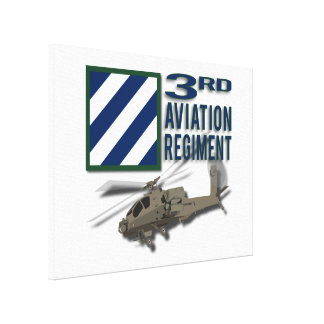3rd Aviation Regiment Apache Gallery Wrapped Canvas