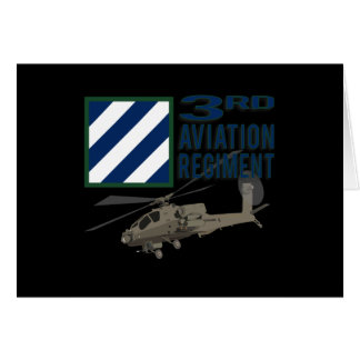 3rd Aviation Regiment Apache Greeting Card