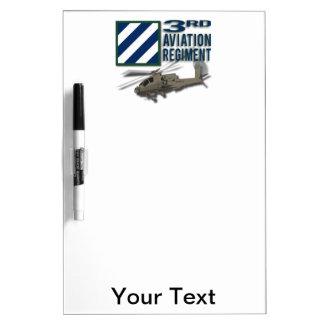 3rd Aviation Regiment Apache Dry Erase Whiteboard