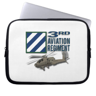3rd Aviation Regiment Apache Laptop Sleeves