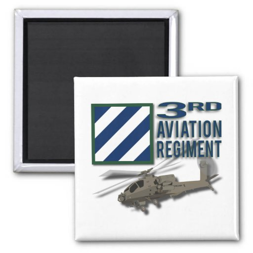 3rd Aviation Regiment Apache Fridge Magnets