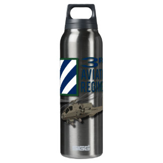 3rd Aviation Regiment Apache 16 Oz Insulated SIGG Thermos Water Bottle