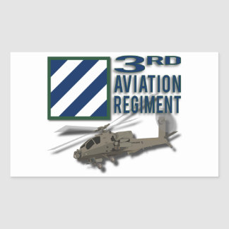 3rd Aviation Regiment Apache Rectangle Stickers