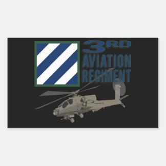 3rd Aviation Regiment Apache Rectangular Stickers