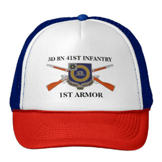 3RD BATTALION 41ST INFANTRY 1ST ARMORED HAT