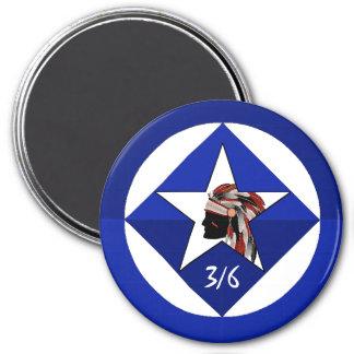 3rd Battalion 6th Marine Regiment 7.5 Cm Round Magnet