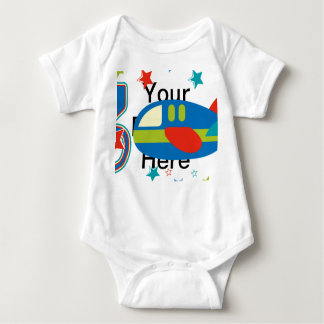 3rd Birthday Airplane Baby Bodysuit
