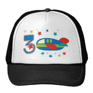 3rd Birthday Airplane Mesh Hat