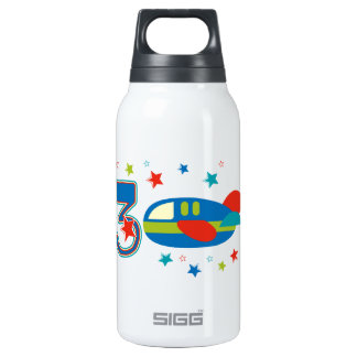 3rd Birthday Airplane Insulated Water Bottle