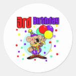 3rd Birthday Australia Birthday Round Stickers